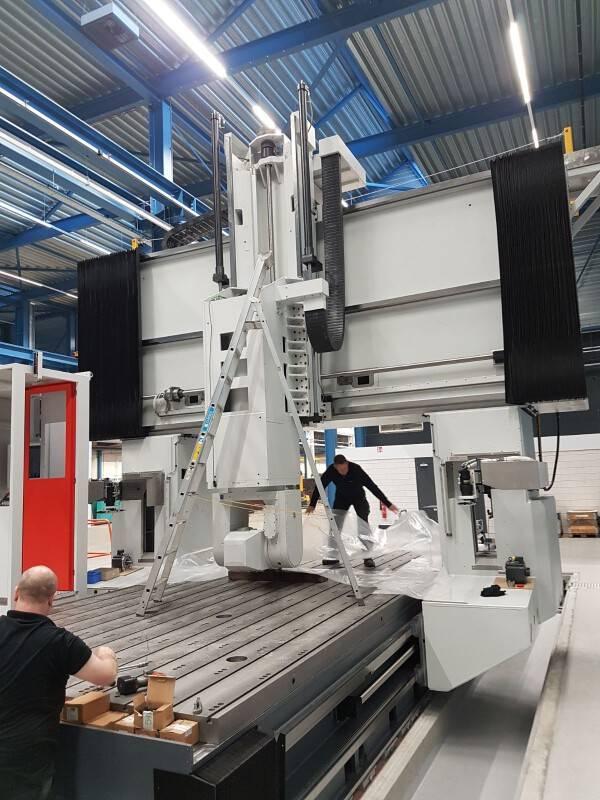 Bouw nieuwe Matec portaalmachine bij VDL Steelweld